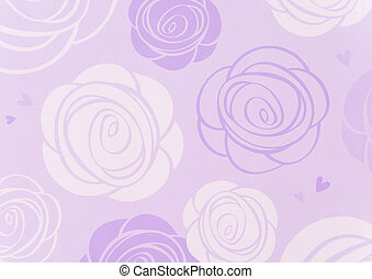 white and purple rose pattern for background