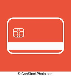The credit card icon. Bank Card symbol. - The credit card...