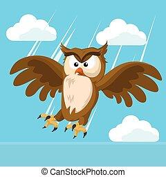 owl striking