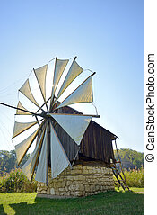 Old wooden mill - Old wooden wind mill