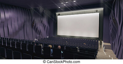 Cinema hall, 3d render - 3d Render of a cinema hall