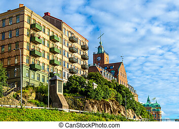 Buildings in the historic centre of Gothenburg - Sweden -...