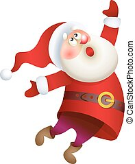 Vector Santa Claus singing Christmas song illustration -...
