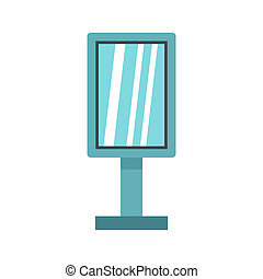 Vintage microphone icon, flat style - icon in flat style on...
