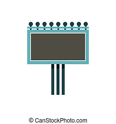 Blank billboard icon, flat style - icon in flat style on a...