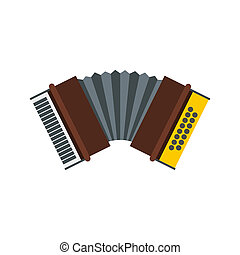 Accordion icon in flat style - icon in flat style on a white...