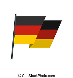 Flag of Germany icon, flat style - icon in flat style on a...