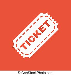The ticket icon. Ticket symbol. Flat Vector illustration