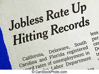 Jobless rate is up and hitting the record concepts poor...