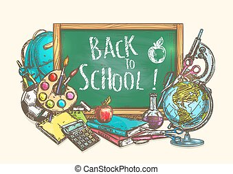 Back to school welcome banner background - Back to School...