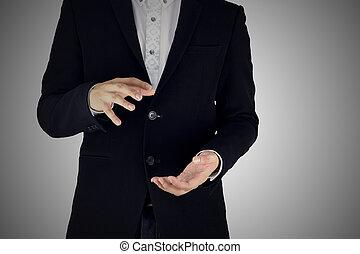set 9. businessman is acting. - set 9. businessman show the...