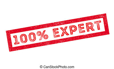 100 percent expert rubber stamp on white. Print, impress,...