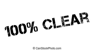 100 percent clear rubber stamp on white. Print, impress,...