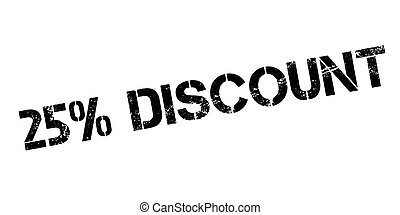 25 percent discount rubber stamp