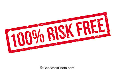 100 percent risk free rubber stamp on white. Print, impress,...