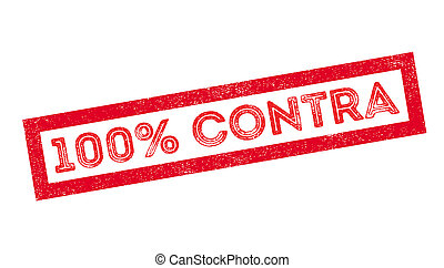 100 percent contra rubber stamp on white. Print, impress,...
