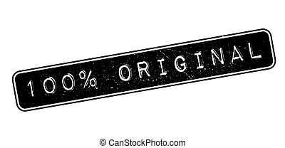 100 percent original rubber stamp on white. Print, impress,...