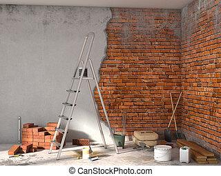 repairs room; 3d illustration