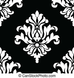 Vector Seamless Tile - Vector floral pattern. Seamless tile...