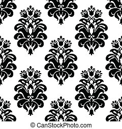 Vector Damask Pattern - Vector floral pattern Seamless tile...