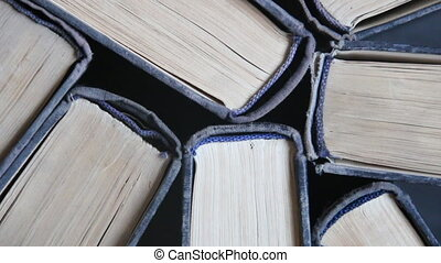 Old book - education and science idea - book background,...