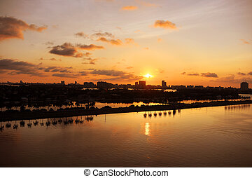 Miami at Daybreak - Miami at daybreak with view of canals