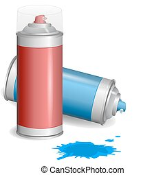Aerosol paint spray - Aerosol graffiti paint spray Vector...