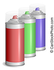 Aerosol paint spray. - Aerosol graffiti paint spray. Vector...