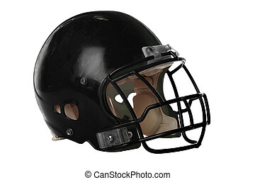 Football Helmet - Football helmet isolated over white...
