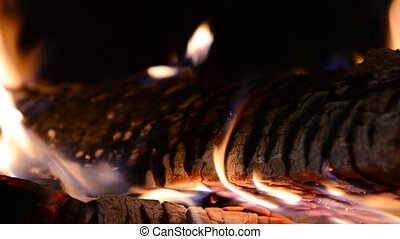Burning fire - Closeup of burning flames or fire in...