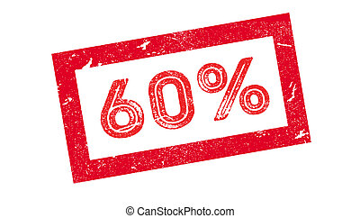 60 percent rubber stamp on white. Print, impress, overprint.
