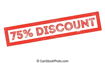 75 percent discount rubber stamp on white. Print, impress,...