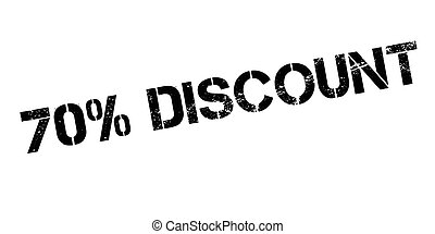 70 percent discount rubber stamp on white. Print, impress,...