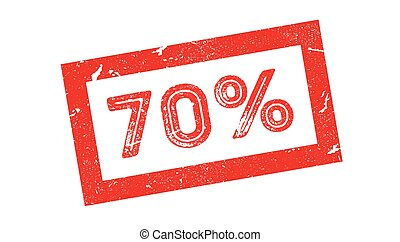 70 percent rubber stamp on white. Print, impress, overprint.