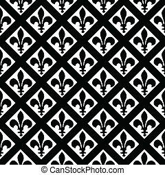 Vector Fleur de Lys Pattern