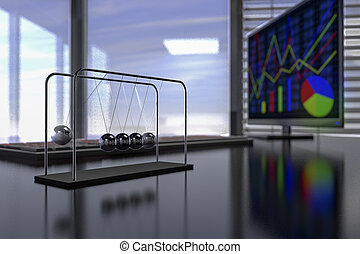 Newton pendulum in an office
