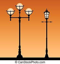 Vintage street light.