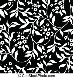 Vector Black Ivy Pattern - Vector repeating ivy pattern...