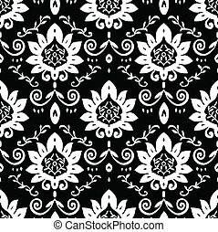 Vector Craft Pattern - Vector floral pattern. Seamless tile...