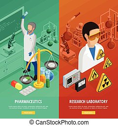 Science Vertical Banners Set - Science vertical banners set...