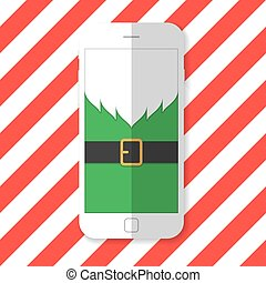 Phone with the image of Santa Claus beard