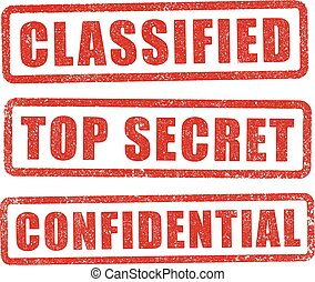 Classified stamps - Classified, Top Secret and Confidential...