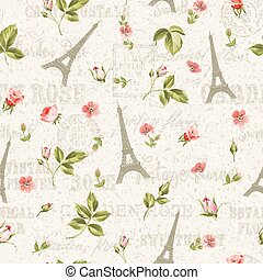 Pattern with red flowers.