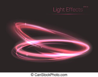 Pink neon ovals or circles for light effect background....