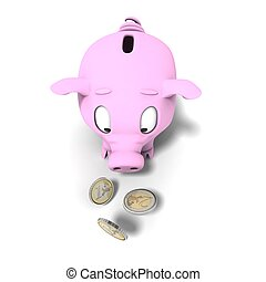 moneybox - Money concept with a pink pig