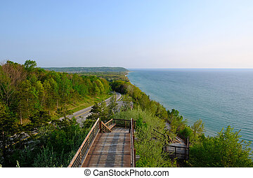 Scenic Lake Michigan overlook