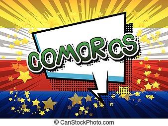 Comoros - Comic book style text