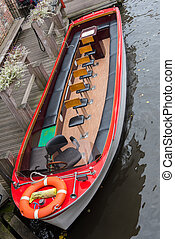 passenger boat as tourist attraction in Brugge, Belgium