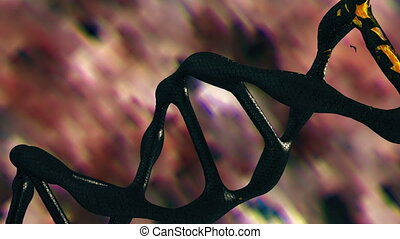 DNA helix in dark brown color