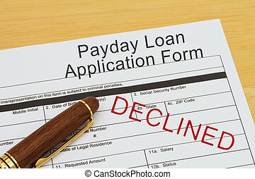 Applying for a Payday Loan Declined, Payday loan application...